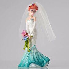 DISNEY SHOWCASE Figurine ARIEL LITTLE MERMAID Statue WEDDING BRIDE GOWN BOUQUET