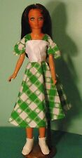 """Green Check St Patrick's Dress for 18"""" Supersize Barbie or Tiffany Taylor SSHP68"""