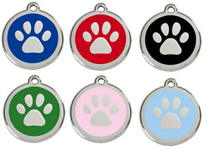 Engraved-Personalised-Dog-ID-identity-Tags-discs-by-Paw-Print-Red-Dingo-1PP
