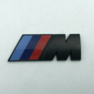 2x BMW M Sport Emblem Matte Black Sticker Side Wing Fender Badge 50x20mm Pair