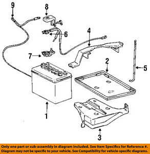 toyota oem 93 97 corolla battery hold down bracket clamp tie bolt rh ebay com Toyota Highlander Fuse Diagram toyota camry hybrid battery diagram