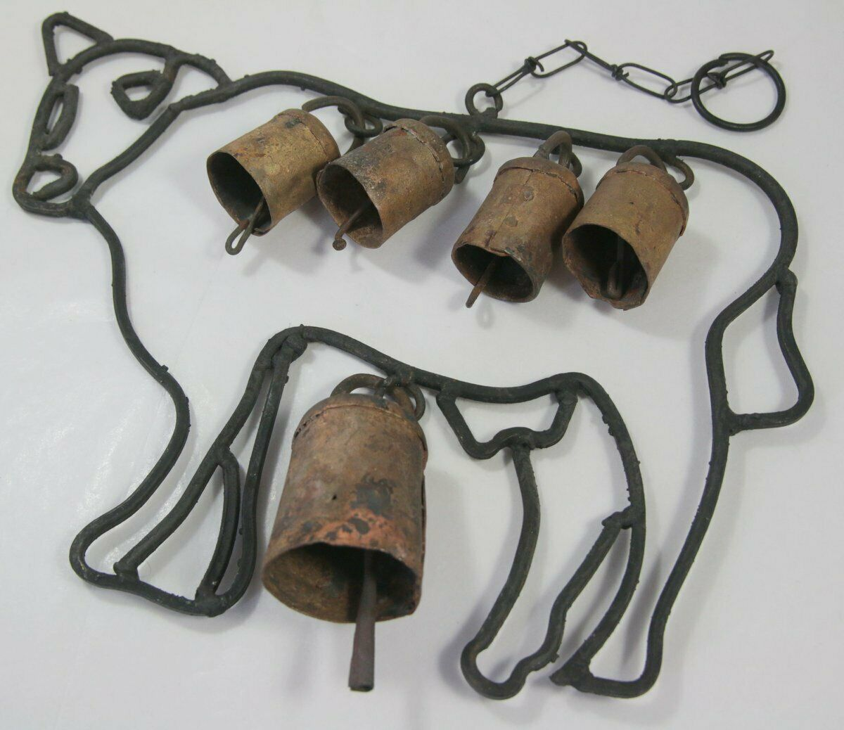 Artisan Cow Shaped Cow Bells Wind Chime