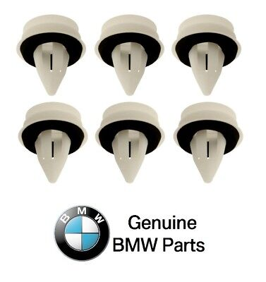 For Bmw E46 E82 E90 Set Of 6 Door Panel Clips With Seal Rings Natural Genuine Ebay