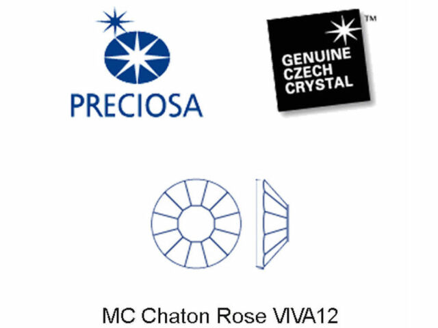 Padparadscha AB Preciosa Genuine Czech Viva Chaton Rose Flatback Rhinestones