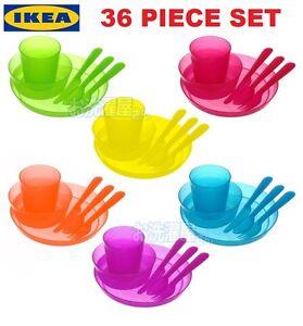 ikea kalas baby kids plastic cups plates bowls cutlery mugs set