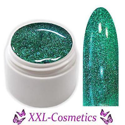 Exclusive Farbgel UV Gel Grün Glitter 5ml Made in Germany EG-109