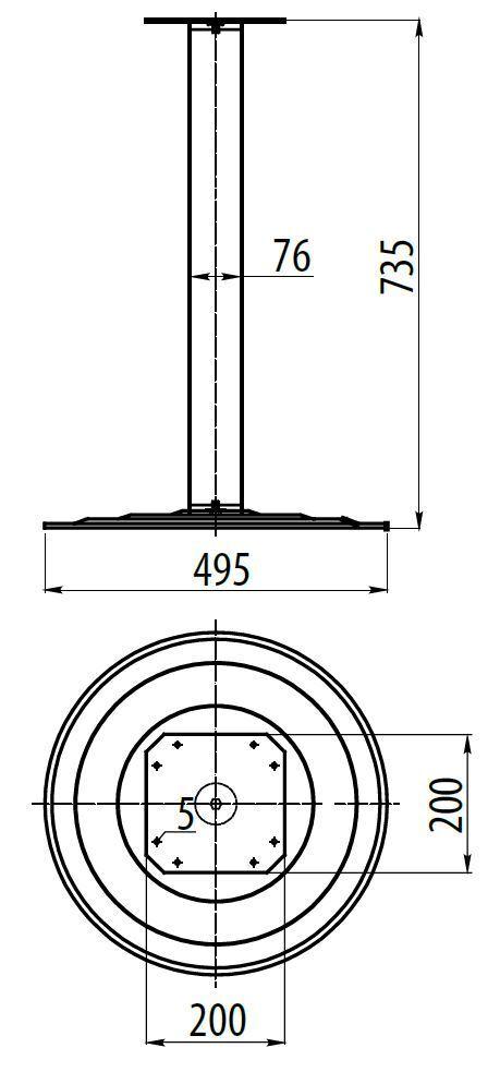 735mm 390 Cromado Calidad Desayunador encimera Soporte Pata De Mesa 390 735mm   495 mm Pie bca4bf