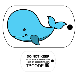 Whale Travel Bug Unactivated For Geocaching Trackable Tag
