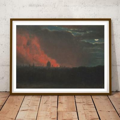 Honey 34x22 Inch John Constable Fire In London Seen From Hampstead Art Print And To Have A Long Life. Art