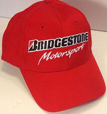 Bridgestone Motorsport Red Billed Cap Cotton Adjustable Hat Racing NEW Firestone