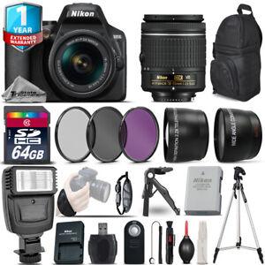 Details about Nikon D3500 DSLR Camera + 18-55mm VR + 1yr Warranty + Filters  + 64GB -Saving Kit