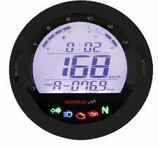 Koso DL-03SR Digital Tacómetro Velocímetro motocicleta luces de advertencia Dash negro