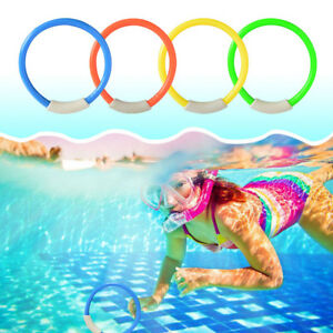 Details about 4Pcs Children Underwater Diving Rings Kids Water Toys  Swimming Pool Accessories