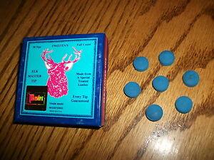 ELK MASTER 13.5mm Pool Cue Stick Tips (7 TIPS) SOFT Pre Chalk Soaked Billiard