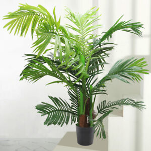 1//2X Large Artificial Tree Indoor Home House Plants Palm Tree 60-150cm in Pot UK