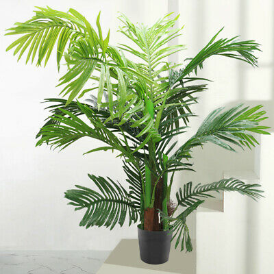 1 2x Large Artificial Tree Indoor Home House Plants Palm Tree 60 150cm In Pot Uk Ebay