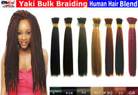 Yaki Bulk Braiding Hair Synthetic Fibre Human Hair Blend – 18""
