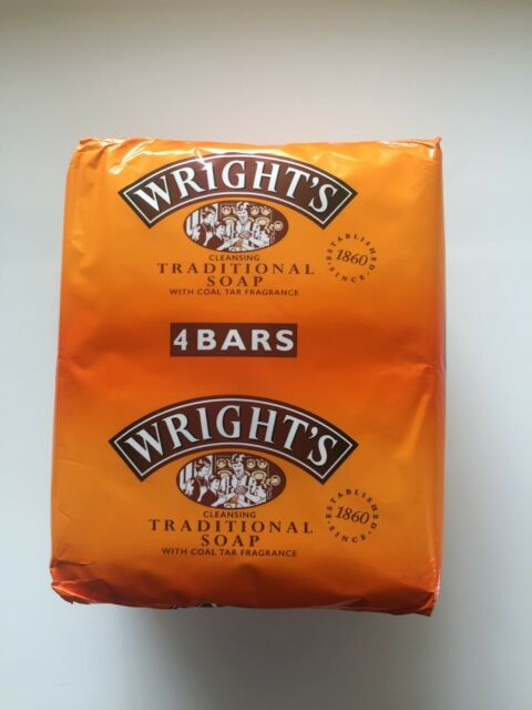 Wright's Traditional Soap with Coal Tar Fragrance 4 Pack