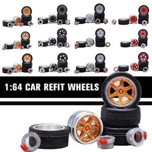 Facil-de-metal-llantas-en-escala-1-64-con-BREMSSATTEL-neumaticos-de-goma-Custom-Wheel
