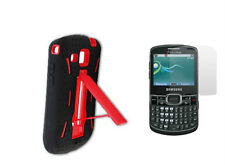 Screen Protector + Red Armor Hybrid Case for Samsung Freeform 4 SCH-R390 R390X