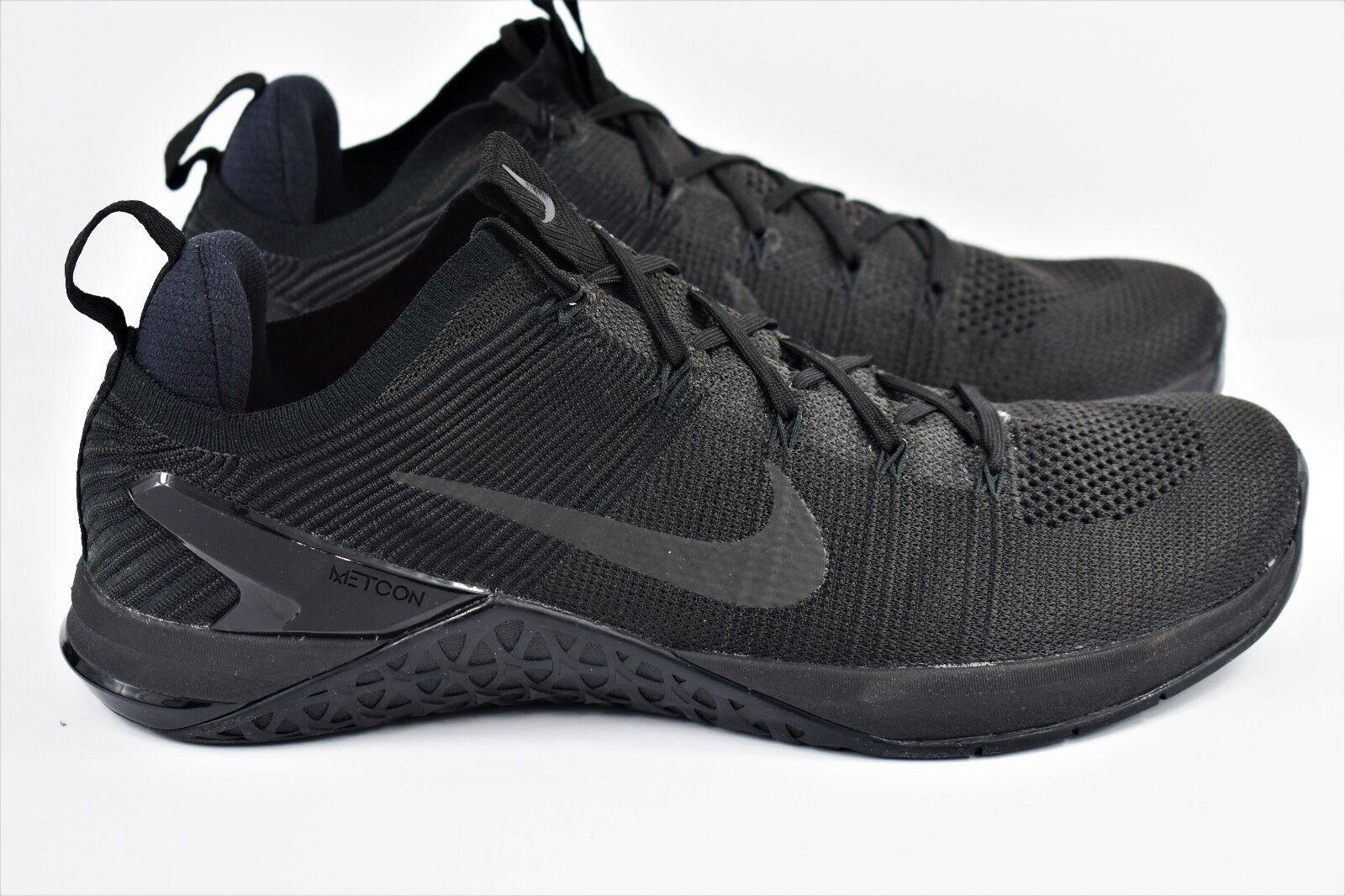Nike Metcon DSX Flyknit Mens Size 11.5 Training 004 Shoes Triple Black 924423 004 Training 91ecf4