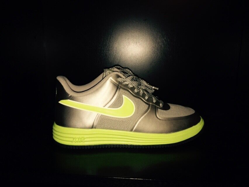 Nike Lunar Force 1 Fuse Granite/Volt 555027 002 Men's Sz 8 2018 NIB