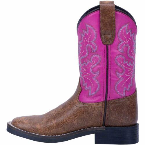 Tan//Pink DPPC2979 Dan Post Children/'s Broad Square Toe Boot