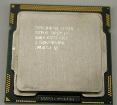Intel Core i3-530 2.93GHz Dual-Core 4M 2.5GT//s Processor SLBLR Socket 1156