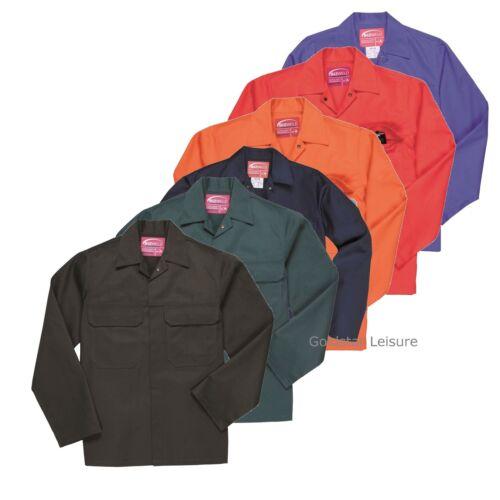 Portwest BizWeld Jacket Coat Flame Resist Stud Fastening Safety Workwear S-5XL