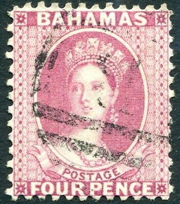 Bahamas-1882 4d Rose Perf 12 Sg 41 Good Used V26195 Good Heat Preservation Bahamas (until 1973)