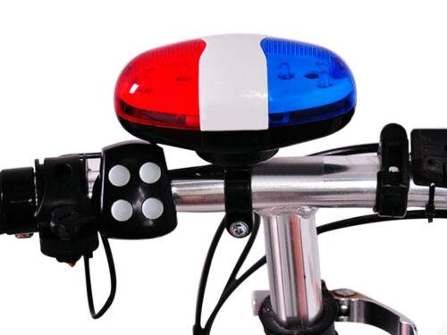 MTB Bike Loud Electronic Siren Horn Bell Ring Alarm 4-sound 6 LED