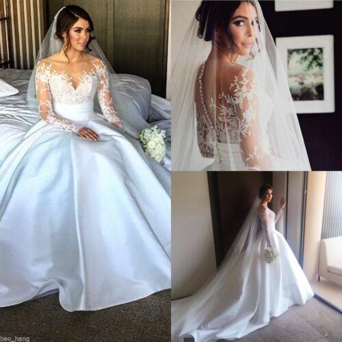New Lace White//Ivory Wedding Dress Bridal Gown Custom Size 4 6 8 10 12 14 16 18+
