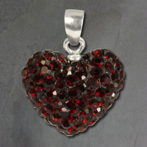 SilberDream Anhänger für Damen Silber Schmuck dunkelrot Herz Zirkonia GSH205D