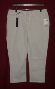 NWT Women/'s White Seven 7 Skinny 4 Way Stretch Capri Size 6