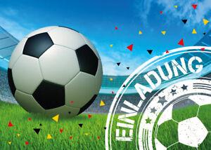 Details Zu Einladungskarten Fussball Kindergeburtstag Jungen Fussball Einladung Geburtstag