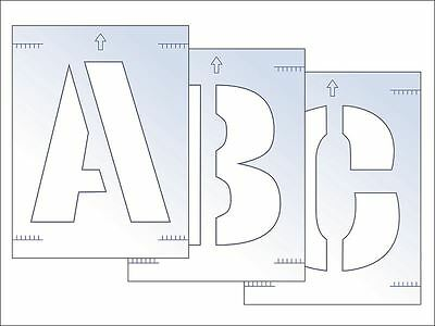 Scan 9417 300mm Letter Stencil Kit