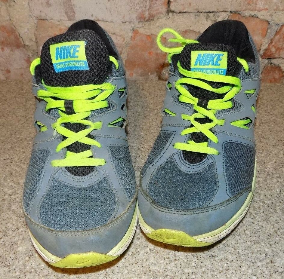 best service 0f95a 68465 ... MENS NIKE DUAL FUSIONLITE GRAY GRAY GRAY TRIMMED GREEN MENS SIZE 9  05e614 ...