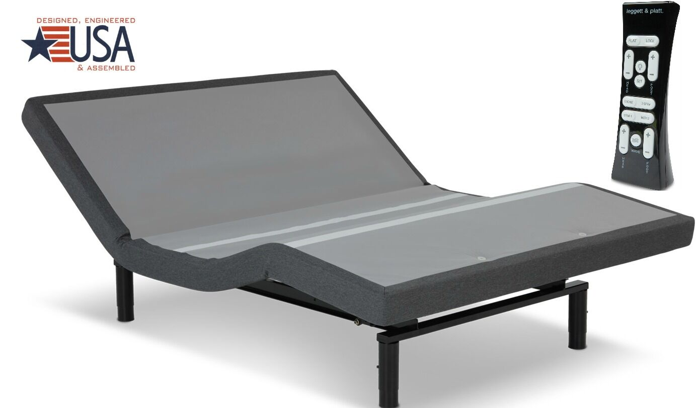 NEW QUEEN LEGGETT & PLATT S-CAPE 2.0 ADJUSTABLE BED  W  ALL NEW FEATURES