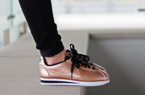 990 8 Nike Leather Shoes Tama Womens o 807471 Metallic Bronze Cortez Classic wwArqEzP