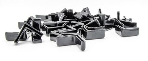 """Details about  /1 1//4/"""" Black Vinyl Angle End Caps Fits 1//8/"""" Thick Angle Iron"""