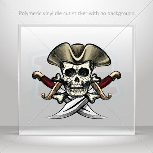 Sticker Decal Cross Sword Pirate Skull Atv Bike Garage bike st5 X325W