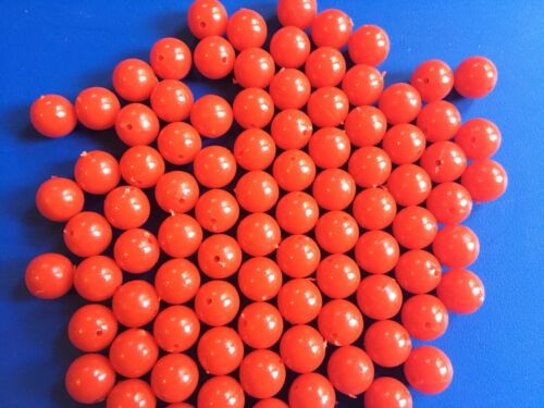 Details about  /Large Red Beads 14mm 100pc Popping Cork Fishing Rigs Rigging Redfish and Specs