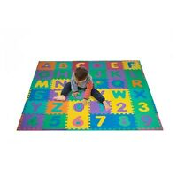 96 Pc Foam Floor Alphabet & Number Puzzle Mat For Kids - 6 Feet Square