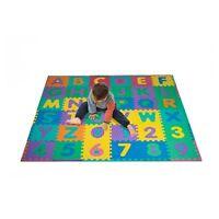 96 PC Foam Floor Alphabet & Number Puzzle Mat For Kids Multi-color Toys on Sale