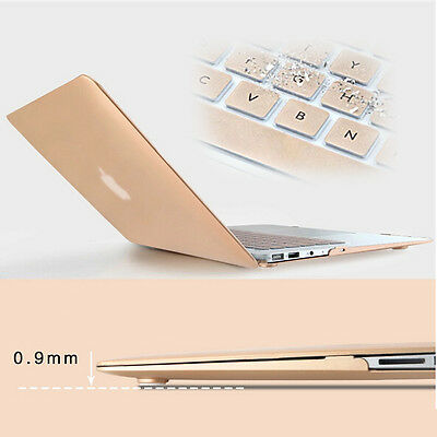 Golden Rubberized Matte Case Laptop Cover For Macbook Air Pro Retina 11/13/15""