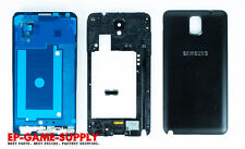 Samsung Galaxy Note 3 N9005 Full Housing LCD Middle Frame Battery Cover Black