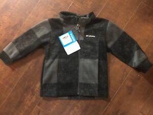 cc6117f78 Image is loading New-Columbia-Black-Charcoal-Fleece-ZIP-Jacket-Infant-