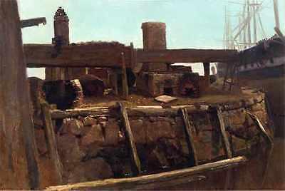 Art Prints Bierstadt Albert Wharf Scene A4 Print