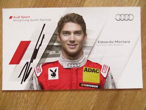 Handsignierte-Autogrammkarte-EDOARDO-MORTARA-Audi-Sport-Team-DTM-Saison-2011