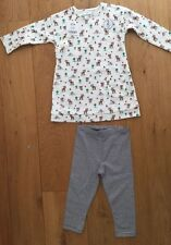 Next NWT 2 part Baby girls Cream top & legging toadstool woodland Deer s6-9m